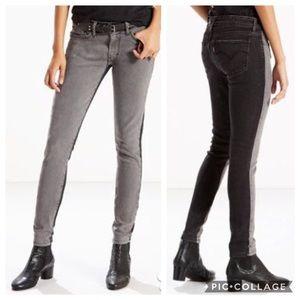 Levi's 711 Skinny Jeans Two-Tone Size 25x30